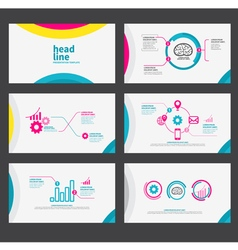Presentation template flat design set vector