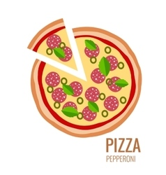 Pizza piece icon background vector