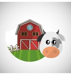 Animal design cow icon isolated vector