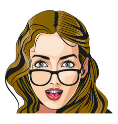 Beautiful woman face fashion image vector