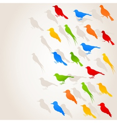 birds flight background vector image vector image