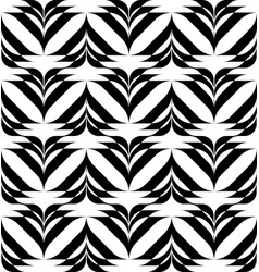 Black and white geometric seamless pattern vector