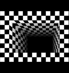 Black and white tunnel vector