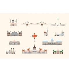 Budapest historical building vector