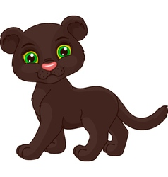 Cute panther vector