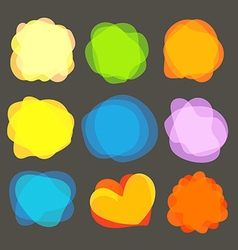 Different color blobs clip-art elements collection vector image vector image