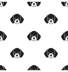 Dog muzzle icon in black style for web vector
