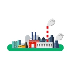 Factory Icon pollution concept flat vector image vector image