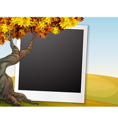 Frame with autumn background vector image