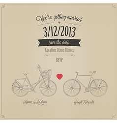 Funny grunge retro wedding invitation vector image