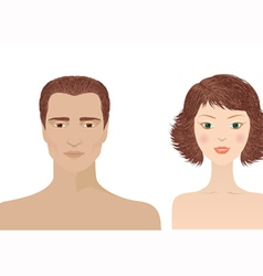 man and woman portraits vector image vector image