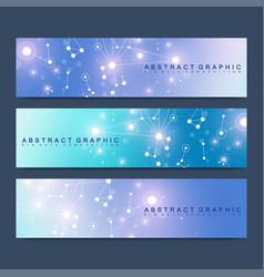 Modern scientific set of banners geometric vector