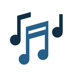 Music notes icon image vector