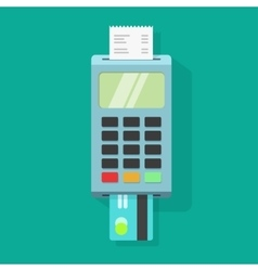 Pos terminal payment machine vector
