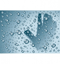 rain drops vector image