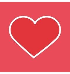 Red human heart vector