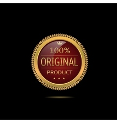 Red Original product label vector image