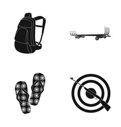 Shooting range sport and other web icon in black vector