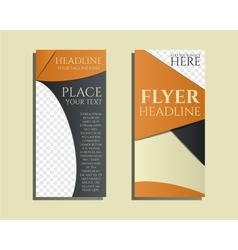 Smart solutions brochure and flyer design template vector