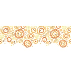 Sunny faces horizontal seamless pattern background vector image vector image