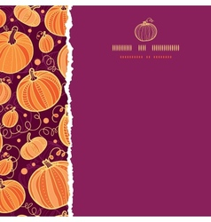 Thanksgiving pumpkins square torn seamless pattern vector image vector image
