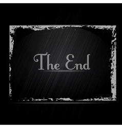 The End vector image vector image