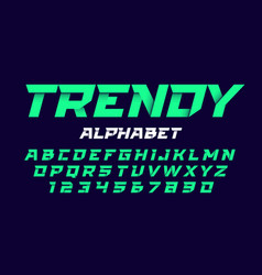 trendy style alphabet vector image vector image