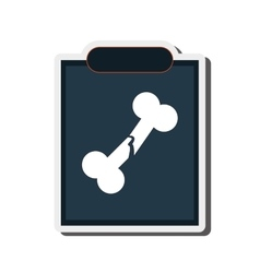 Single x-ray icon vector