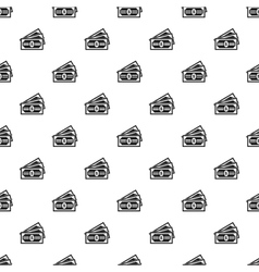Dollar banknotes pattern simple style vector image