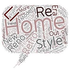Why renovate when you can retro reno text vector