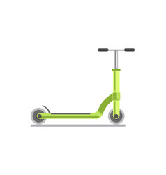 Green kick scooter vector