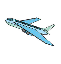 airplane taking off vector image