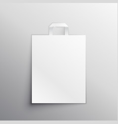 Empty bag mockup display vector