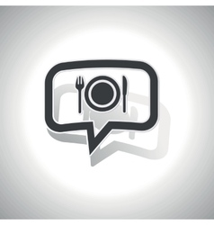 Curved dinner message icon vector