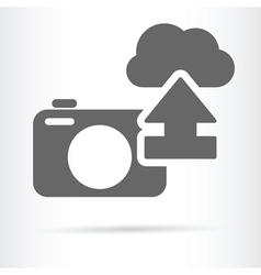 Digital camera cloud icon vector