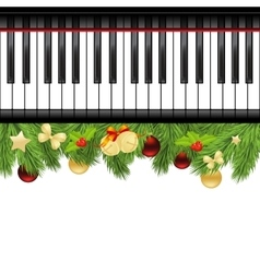 Template with piano keyboard vector