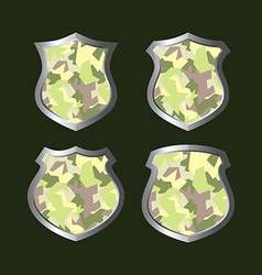 Army camouflage shield vector