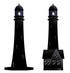 Silhouette of a lighthouse vector
