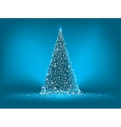 abstract blue christmas tree vector image