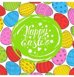Template card with easter eggs vector