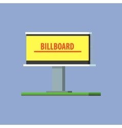Empty billboard for advertising vector