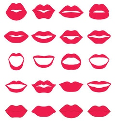 Set of red lips vector