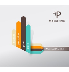 4p strategy business concept marketing infographic vector