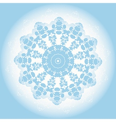 abstract blue lace doily vector image