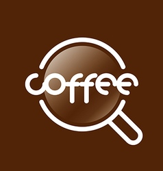 Abstract logo coffee cup vector