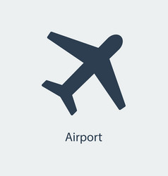 Airport icon airplane sign vector