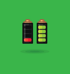 battery icon full charge and battery vector image