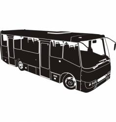 bus silhouette vector image vector image