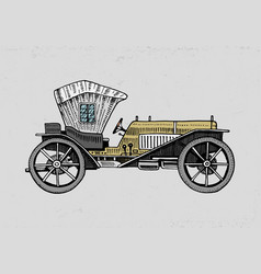 classic car machine or engine vector image vector image