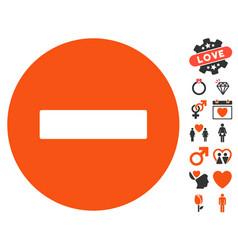 Forbidden icon with valentine bonus vector